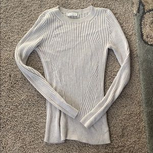 Abercrombie and Fitch cream cable sweater
